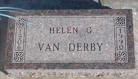 VAN DERBY, HELEN G. - Bon Homme County, South Dakota | HELEN G. VAN DERBY - South Dakota Gravestone Photos