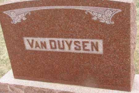 VAN DUYSEN, PLOT - Bon Homme County, South Dakota | PLOT VAN DUYSEN - South Dakota Gravestone Photos