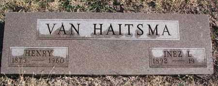VAN HAITSMA, INEZ L. - Bon Homme County, South Dakota | INEZ L. VAN HAITSMA - South Dakota Gravestone Photos