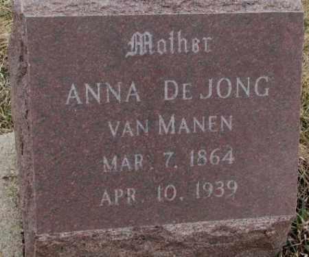 VAN MANEN, ANNA - Bon Homme County, South Dakota   ANNA VAN MANEN - South Dakota Gravestone Photos