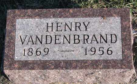 VANDENBRAND, HENRY - Bon Homme County, South Dakota | HENRY VANDENBRAND - South Dakota Gravestone Photos