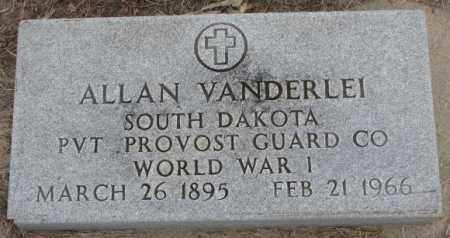 VANDERLEI, ALLAN - Bon Homme County, South Dakota | ALLAN VANDERLEI - South Dakota Gravestone Photos