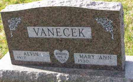 VANECEK, MARY ANN - Bon Homme County, South Dakota | MARY ANN VANECEK - South Dakota Gravestone Photos