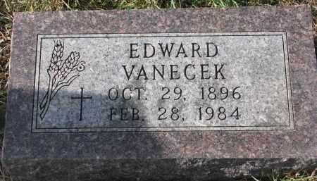 VANECEK, EDWARD - Bon Homme County, South Dakota | EDWARD VANECEK - South Dakota Gravestone Photos
