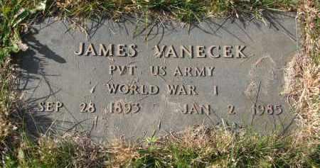 VANECEK, JAMES (WW I) - Bon Homme County, South Dakota | JAMES (WW I) VANECEK - South Dakota Gravestone Photos