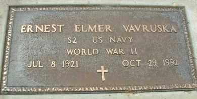 VAVRUSKA, ERNEST ELMER - Bon Homme County, South Dakota   ERNEST ELMER VAVRUSKA - South Dakota Gravestone Photos