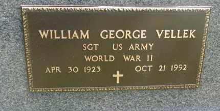 VELLEK, WILLIAM GEORGE (WW II) - Bon Homme County, South Dakota | WILLIAM GEORGE (WW II) VELLEK - South Dakota Gravestone Photos