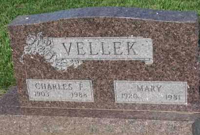 VELLEK, CHARLES F. - Bon Homme County, South Dakota | CHARLES F. VELLEK - South Dakota Gravestone Photos