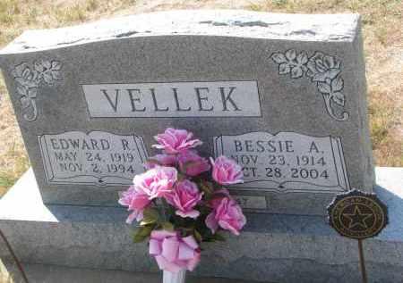 VELLEK, EDWARD R. - Bon Homme County, South Dakota | EDWARD R. VELLEK - South Dakota Gravestone Photos