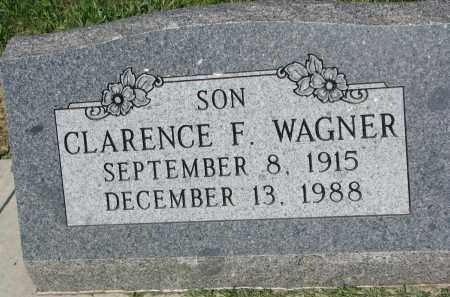 WAGNER, CLARENCE F. - Bon Homme County, South Dakota | CLARENCE F. WAGNER - South Dakota Gravestone Photos
