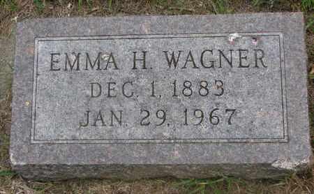 WAGNER, EMMA H. - Bon Homme County, South Dakota | EMMA H. WAGNER - South Dakota Gravestone Photos