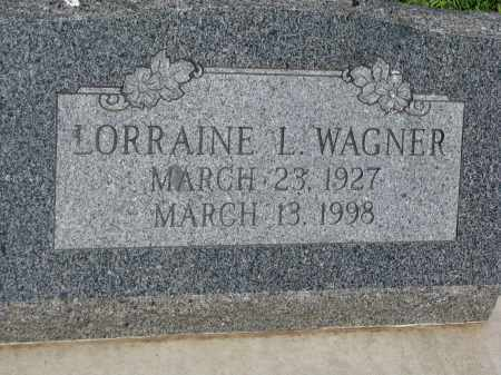 WAGNER, LORRAINE L. - Bon Homme County, South Dakota   LORRAINE L. WAGNER - South Dakota Gravestone Photos