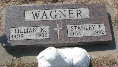 WAGNER, LILLIAN K. - Bon Homme County, South Dakota   LILLIAN K. WAGNER - South Dakota Gravestone Photos