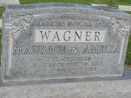 WAGNER, AMELIA - Bon Homme County, South Dakota | AMELIA WAGNER - South Dakota Gravestone Photos