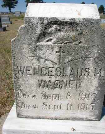 WAGNER, WENCESLAUS M. - Bon Homme County, South Dakota | WENCESLAUS M. WAGNER - South Dakota Gravestone Photos