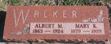 WALKER, ALBERT M. - Bon Homme County, South Dakota   ALBERT M. WALKER - South Dakota Gravestone Photos