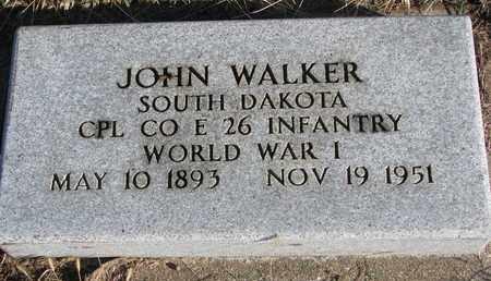 WALKER, JOHN - Bon Homme County, South Dakota | JOHN WALKER - South Dakota Gravestone Photos