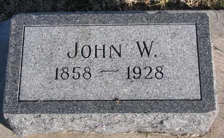 WALLACE, JOHN W. - Bon Homme County, South Dakota   JOHN W. WALLACE - South Dakota Gravestone Photos