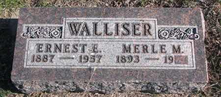 WALLISER, ERNEST E. - Bon Homme County, South Dakota   ERNEST E. WALLISER - South Dakota Gravestone Photos