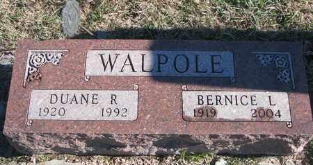 WALPOLE, DUANE R. - Bon Homme County, South Dakota | DUANE R. WALPOLE - South Dakota Gravestone Photos