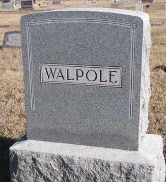 WALPOLE, FAMILY STONE - Bon Homme County, South Dakota | FAMILY STONE WALPOLE - South Dakota Gravestone Photos
