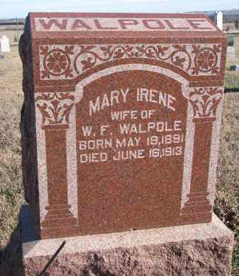 WALPOLE, MARY IRENE - Bon Homme County, South Dakota | MARY IRENE WALPOLE - South Dakota Gravestone Photos