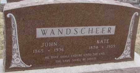 WANDSCHEER, JOHN - Bon Homme County, South Dakota | JOHN WANDSCHEER - South Dakota Gravestone Photos