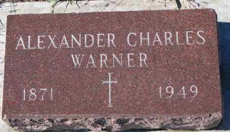 WARNER, ALEXANDER CHARLES - Bon Homme County, South Dakota | ALEXANDER CHARLES WARNER - South Dakota Gravestone Photos