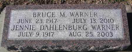 DAHLENBURG WARNER, JENNIE - Bon Homme County, South Dakota | JENNIE DAHLENBURG WARNER - South Dakota Gravestone Photos
