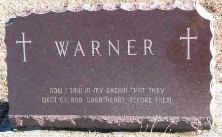 WARNER, FAMILY STONE - Bon Homme County, South Dakota   FAMILY STONE WARNER - South Dakota Gravestone Photos