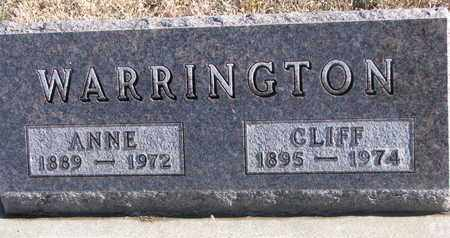 WARRINGTON, CLIFF - Bon Homme County, South Dakota | CLIFF WARRINGTON - South Dakota Gravestone Photos