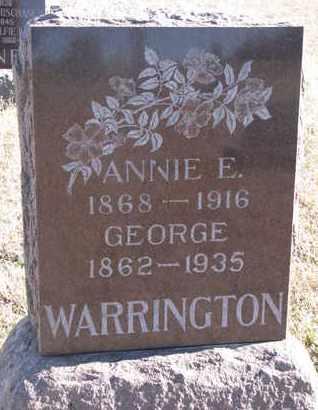 WARRINGTON, ANNIE E. - Bon Homme County, South Dakota | ANNIE E. WARRINGTON - South Dakota Gravestone Photos