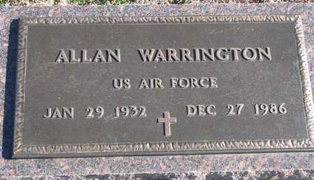 WARRINGTON, ALLAN - Bon Homme County, South Dakota | ALLAN WARRINGTON - South Dakota Gravestone Photos