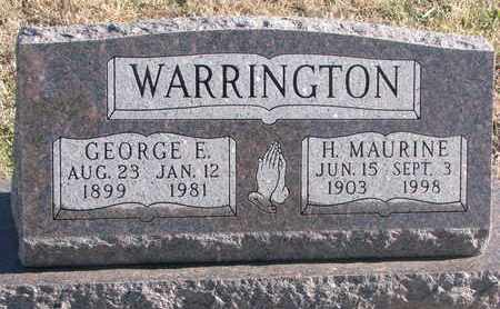 WARRINGTON, GEORGE E. - Bon Homme County, South Dakota | GEORGE E. WARRINGTON - South Dakota Gravestone Photos