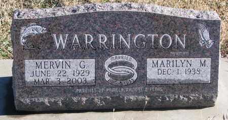 WARRINGTON, MARILYN M. - Bon Homme County, South Dakota   MARILYN M. WARRINGTON - South Dakota Gravestone Photos