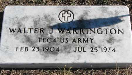 WARRINGTON, WALTER J. - Bon Homme County, South Dakota | WALTER J. WARRINGTON - South Dakota Gravestone Photos