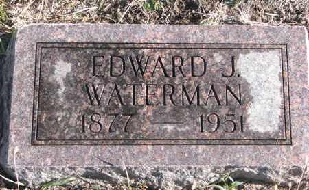 WATERMAN, EDWARD J. - Bon Homme County, South Dakota   EDWARD J. WATERMAN - South Dakota Gravestone Photos