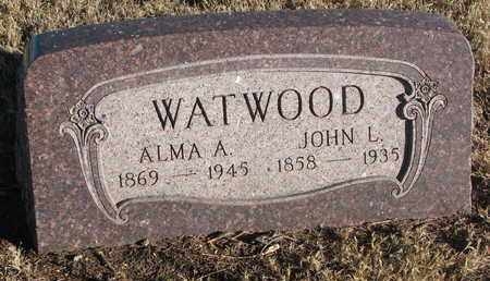 WATWOOD, JOHN L. - Bon Homme County, South Dakota | JOHN L. WATWOOD - South Dakota Gravestone Photos
