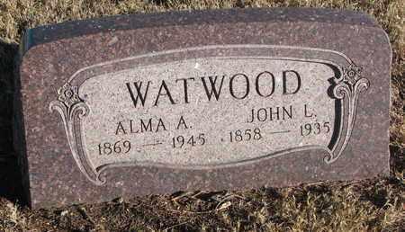 WATWOOD, ALMA A. - Bon Homme County, South Dakota | ALMA A. WATWOOD - South Dakota Gravestone Photos