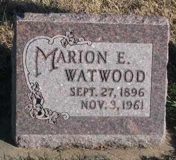WATWOOD, MARION E. - Bon Homme County, South Dakota | MARION E. WATWOOD - South Dakota Gravestone Photos