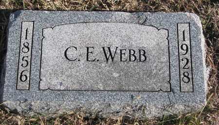 WEBB, C.E. - Bon Homme County, South Dakota | C.E. WEBB - South Dakota Gravestone Photos