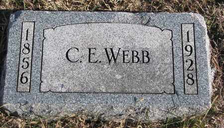 WEBB, C.E. - Bon Homme County, South Dakota | C.E. WEBB - South Dakota Gravestone Photos
