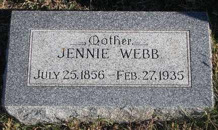 WEBB, JENNIE - Bon Homme County, South Dakota | JENNIE WEBB - South Dakota Gravestone Photos