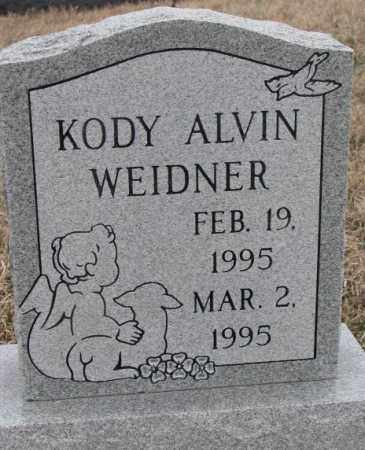 WEIDNER, KODY ALVIN - Bon Homme County, South Dakota | KODY ALVIN WEIDNER - South Dakota Gravestone Photos