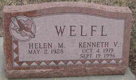 WELFL, KENNETH V. - Bon Homme County, South Dakota | KENNETH V. WELFL - South Dakota Gravestone Photos