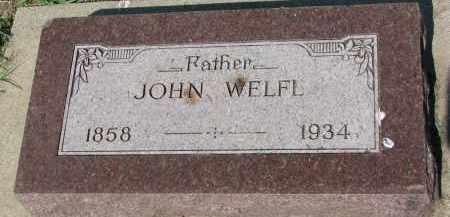 WELFL, JOHN - Bon Homme County, South Dakota   JOHN WELFL - South Dakota Gravestone Photos