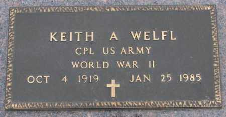 WELFL, KEITH A. (WW II) - Bon Homme County, South Dakota | KEITH A. (WW II) WELFL - South Dakota Gravestone Photos