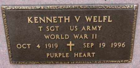 WELFL, KENNETH V. (WW II) - Bon Homme County, South Dakota | KENNETH V. (WW II) WELFL - South Dakota Gravestone Photos