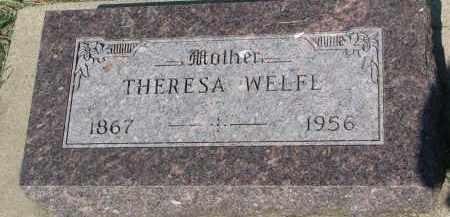 WELFL, THERESA - Bon Homme County, South Dakota | THERESA WELFL - South Dakota Gravestone Photos