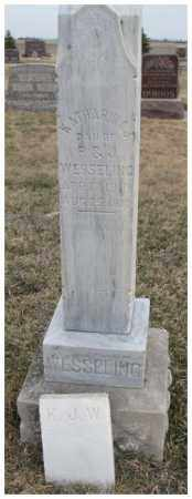 WESSELING, KATHARINA J. - Bon Homme County, South Dakota | KATHARINA J. WESSELING - South Dakota Gravestone Photos